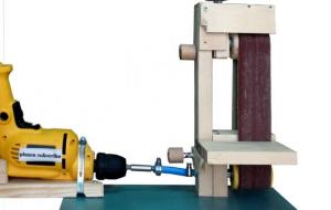 Drill Powered Belt Sander making